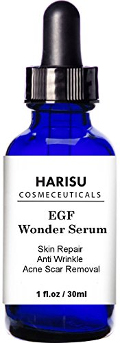 HARISU Cosmeceuticals Anti Wrinkle & Acne Scar Removal Wonder EGF Serum, 30ml,Helps Reduce the Appearance of Scars, Dark Spots Visibly, and Wrinkles, Burns.