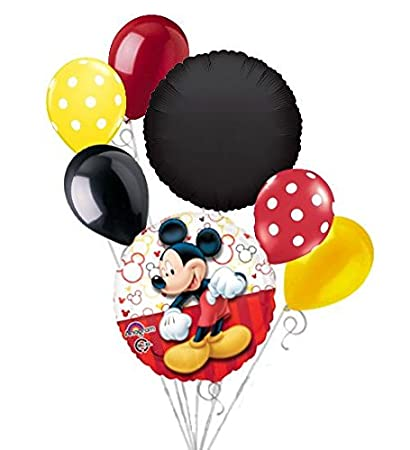 Amazon.com: 7pc Mickey Mouse Style Balloon Bouquet Party ...