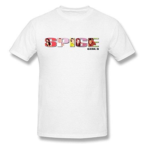 SALA Men's Spice Girls Spice T-Shirts M White