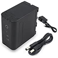 ENEGON Multifunctional Battery (8000mAh) with12V 1A AC Adapter Rapid Self-charging ,Power Bank function, for NP-F930 NP-F950 NP-F960 NP-F970 for Sony DCM-M1 MVC-CD1000..(100% Compatible with Original)