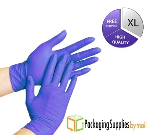 Blue Nitrile Disposable Glove Powder Free Latex Free Food & Safety Glove Medical Exam Economy Grade Gloves(X-Large) 8000-Count by PSBM