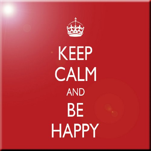 12 x 12 Rikki Knight Keep Calm Be Happy-Red Color Design Ceramic Art Tile