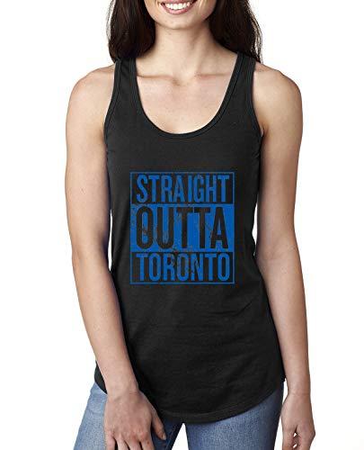 - Straight Outta Toronto Fan | Fantasy Baseball Fans | Womens Sports Jersey Racerback Tank Top, Black, Small