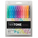 (US) Tombow Twintone Marker Set, Pastel, 12-Pack Dual-Tip