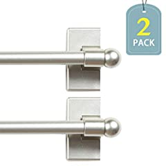 H.Versailtex manufactures these Multi-Use Adjustable Petite Ball Magnetic Rods, the renovated high quality brings a simple and neat look to your home. They can be attached securely to any steel surface with no-tools required. These rod...