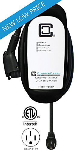 ClipperCreek HCS-50P, Plug-in 240V, 40A, EV Charging Station, 25 ft charging cable, NEMA 14-50, SAFETY CERTIFIED, Made in America. SAVE 200 (50p Plug)