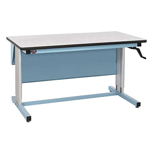 Ergo-Line Series Quick Ship Non-ESD Workbench with Manual Crank Height Adjustment from 30