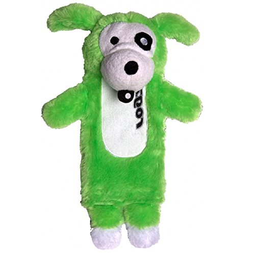 Rogz CS03–L Thinz Plush Dog Toy (Green)