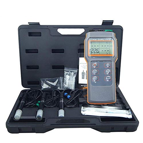 AZ-86031 5 in 1 Water Quality Meter Dissolved Oxygen Tester PH Meter PH Conductivity Salinity Temperature Meter AZ86031 ()