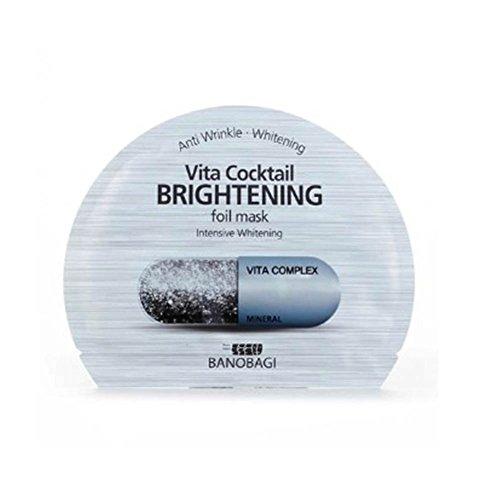 - New BNBG (BANOBAGI) Vita Cocktail Brightening Foil Mask Sheet 30ml 10pcs Set for Anti Wrinkle Whitening
