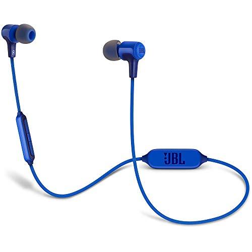 JBL JBLE25BTBLU Audífonos Intraauriculares Bluetooth, Color Azul