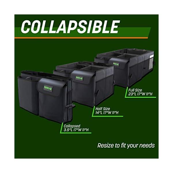 41Fhj5LjI%2BL Drive Auto Products Kofferraum Organizer - Praktische Kofferraumtasche mit Fächern - Einkaufskorb, Aufbewahrungsbox für…