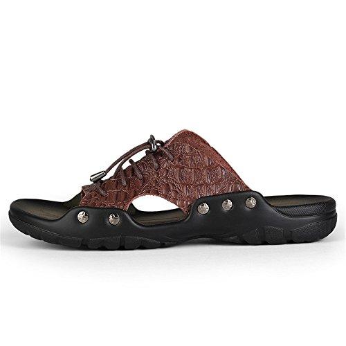 da 2018 Scarpe Nuovo trascinamento Fangs stile uomo da con parola Casual giovent Pantofole sandali uomo di una UwqUY5CE