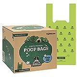 Pogi's Poop Bags - 900 Bolsas para excremento de Perro con manijas de Amarre fácil - Biodegradables, Perfumadas, Herméticas