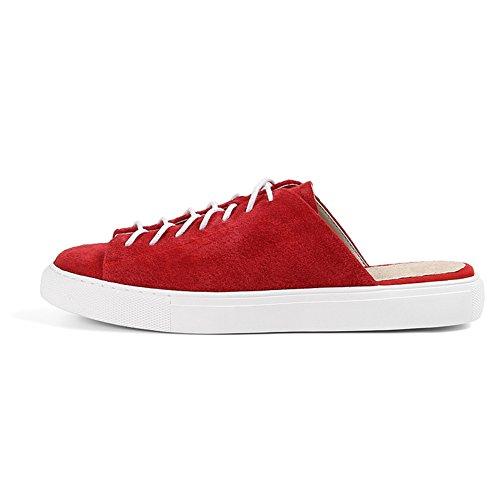 Europa y los estados unidos baotou zapatillas de moda femenina/Zapatos planos perezoso del desgaste del verano B