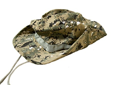 Outdoor Boonie Style Sun Hat for Fishing and Hiking (Green Digital Camo)