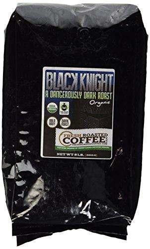 Fresh Roasted Coffee LLC, Black Knight Organic Coffee, Dark Roast, Fair Trade, USDA Organic, Whole Bean, 5 Pound Bag by Fresh Roasted Coffee (Image #1)