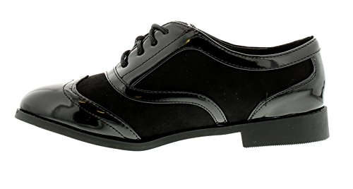 Negro 3 NEGRO Apache Zapatos GB Con jazster MUJER Tallas Cordones 8 NUEVO aAOxwqFBq
