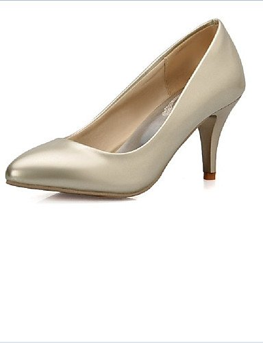 XZZ/ Damen-Stiefel-Kleid / Lässig-PU-Kitten Heel-Absatz-Absätze-Rot / Gold golden-us4-4.5 / eu34 / uk2-2.5 / cn33