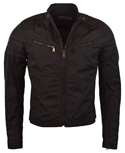 POLO RALPH LAUREN Men's Moto Style Racing Jacket - XXL - Black (Mens Racing Polo)
