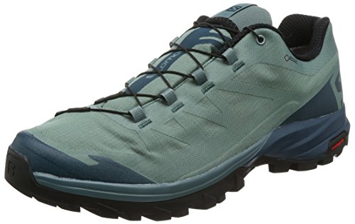 Salomon Herren Outpath GTX Trekking-& Wanderhalbschuhe, Grün, 12,5 EU blau (North Atlantic/Reflecting Pond/Blac)