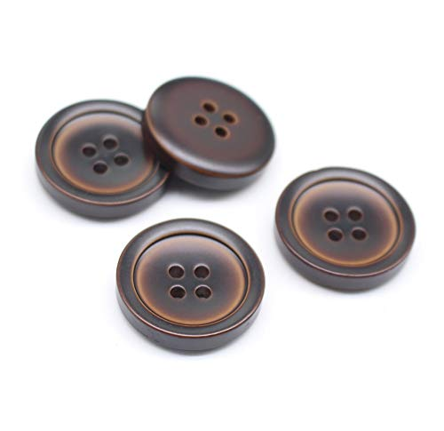 Used, YaHoGa 30pcs 25mm Large Brown Buttons 1 Inch Resin for sale  Delivered anywhere in USA