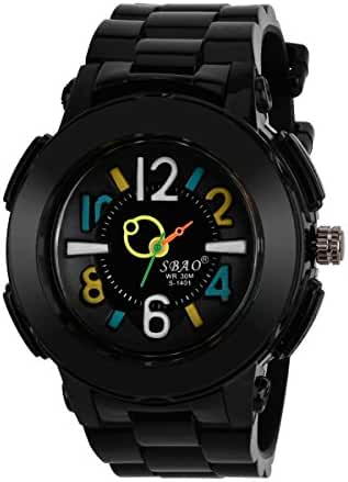 Sbao Children's Silicone Digital Watch Waterproof Quartz Watch For Boys Girls Wristwatch Color Black