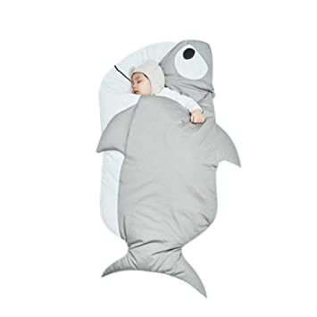 QueenHome Sacos de Bebe para Dormir Invierno Bebé de algodón de Invierno Bolsa de Dormir tiburón: Amazon.es: Hogar