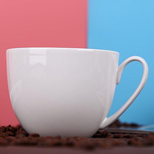WJIANLL Taza, de taza de harina de avena taza China de hueso desayuno taza gran capacidad tazas de tazas de café de la taza de té, 12 * 9,2 cm: Amazon.es: ...