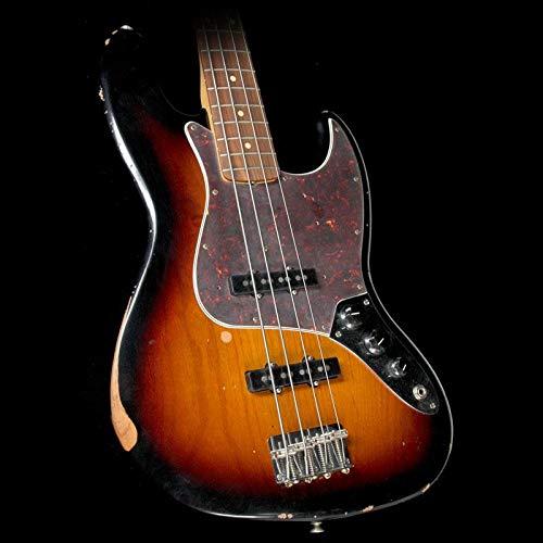 Fender Road Worn '60s Jazz Electric Bass Guitar, Rosewood Fingerboard, 4-Ply Brown Shell Pickguard - 3-Color Sunburst