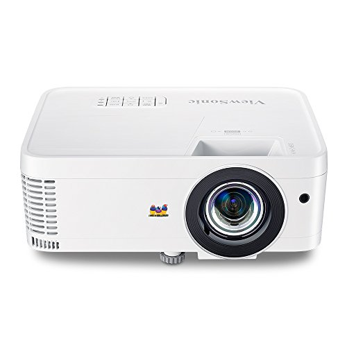 ViewSonic 1080p Short Throw Projector with 3000 Lumens 22,000:1 DLP 3D Dual HDMI USB C and Low Input Lag for Home Theater and Gaming (PX706HD)