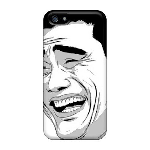 Tpu Case Cover For Iphone 5/5s Strong Protect Case - Yao Ming Meme Face (Yao Ming Face)
