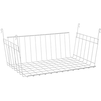 Hanging Wire Shelving | Amazon Com Closetmaid 6222 Hanging Basket For Wire Shelving Home