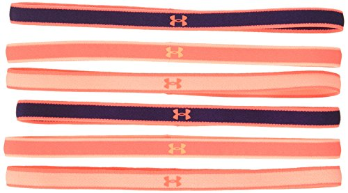 Under Armour Girls' Mini Headbands - 6 Pack ,After Burn (877)/Peach Horizon, One Size