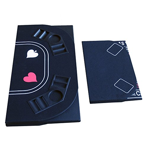 3 in 1 Folding Casino Texas Hold'em Table Top Black (Poker/Craps/Roulette) with Carrying Bag by IDS Home (Image #5)