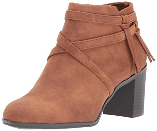 Easy Street Womens Reed Ankle Bootie Tan