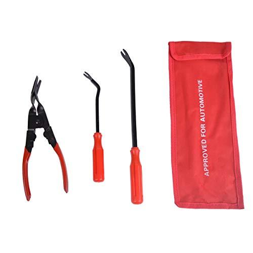 Baitaihem 3 Pcs Clip Pliers Set & Fastener Remover Storage Bag Car Door Panel Dashboard - The Most Essential Combo Repair -