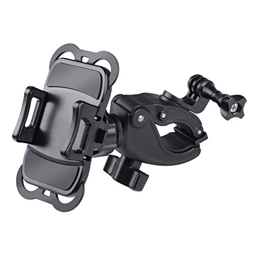 YELIN Bike Phone Mount Motorcycle Phone Holder Bike Camera Mount 2 in 1 Bicycle Holder Handlebar Clamp for Gopro Action Cam iPhone X 8 7 7 Plus 7s 6s Samsung Phone by YELIN (Image #1)