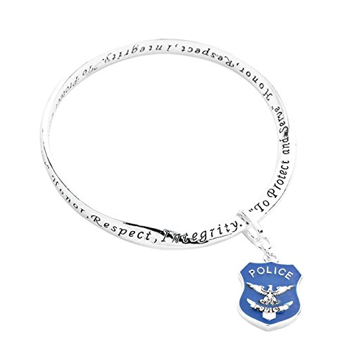 Rosemarie Collections Women's Police Officer Inspirational Bangle Bracelet