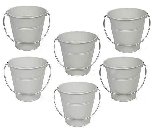 6 pack Metal Bucket, White Metal Bucket 5