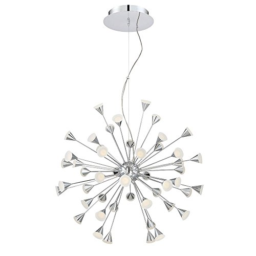 (Eurofase 29029-013 Esplo 48-Light LED Chandelier, Chrome Finish)