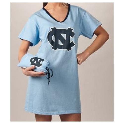 North Carolina Tar Heels UNC NCAA Ladies Nightshirt Sleepwear With Carrying Bag Large / Xlarge