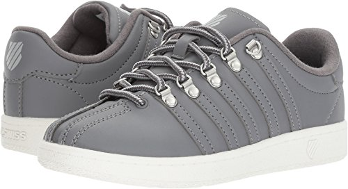 - K-Swiss Kids Unisex Classic VN (Little Kid) Charcoal/Storm/Lily White 3 Little Kid M