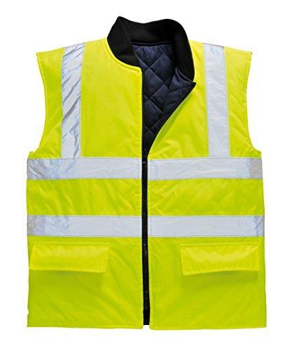 Portwest US469YER Hi-Vis Reversible Body Warmer Vest