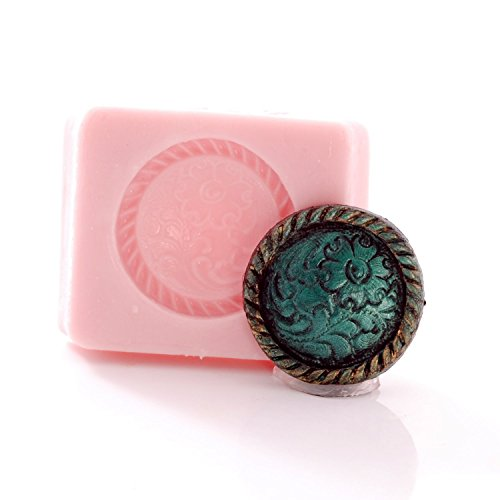 Western Button Concho Silicone Mold Easy to use with Chocolate, Fondant, Candy, Resin, Polymer Clay, Metal Clay. Jewelry, Craft, Food Safe Mold.