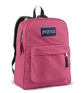 JANSPORT SUPERBREAK BACKPACK SCHOOL BAG - Pink Prep- 9EZ