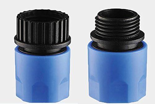 Topways® Conectores adaptadores extensibles de manguera, macho y hembra, para grifo y aspersor, color azul