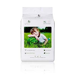 ECO BOOM Baby Bamboo Biodegradable Disposable Diapers Infant Eco Friendly Nappies Natural Soft Hypoallergenic Diapers for Baby Size XLarge 62 Count-Pack