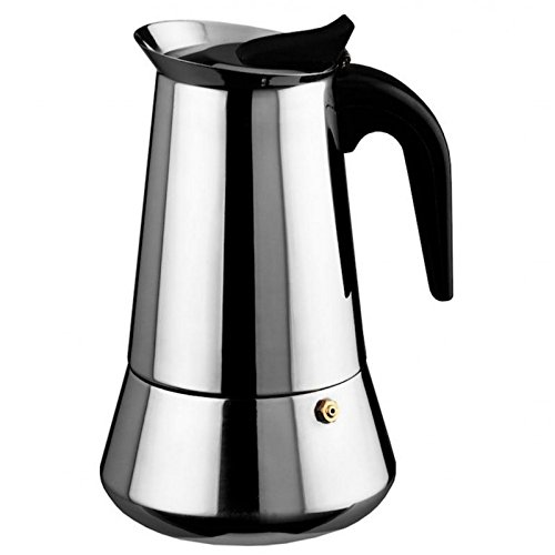 tecuisine - Cafetera italiana (acero inoxidable, 9 tazas ...