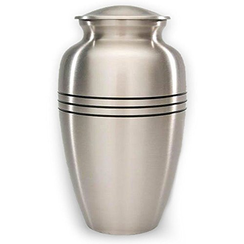 (Beautiful Life Urns Adult Cremation Urn - Dignity Pewter, Large Cremation Urn)